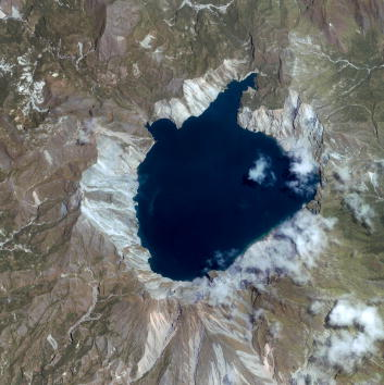 Taal Volcano: A Volcano On An Island Within A Lake In The Philippines