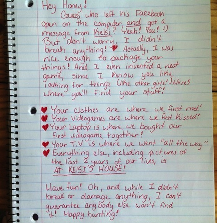 Viral BreakUp Letter Woman Posts GoodBye to Her Cheating