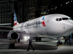American Airlines unveils a new company logo and exterior paint scheme on a Boeing 737-800 aircraft on January 17, 2013 in Dallas, Texas.