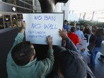 People Protest Travel Ban at LAX Airport