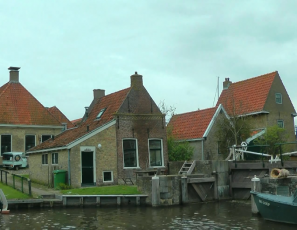 NETHERLANDS Hindeloopen, Friesland (hd-video)