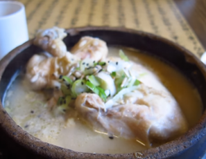 Samgyetang (Chicken Ginseng Soup) at Tosokchon Restaurant in Seoul, South Korea