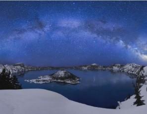 Crater Lake at night... Time Lapse