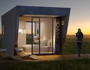 Wooden Hotel Suite Features A Bedroom, Bathroom And Terrace And Can Be Installed Anywhere