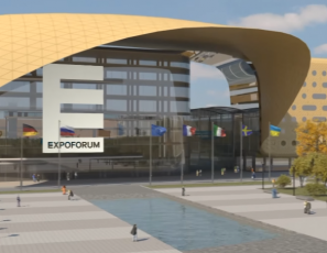 New convention and exhibition center 'EXPOFORUM' Saint-Petersburg