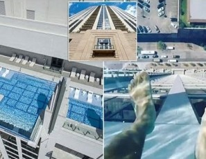 Glass Bottomed Pool in Houston Texas' Market Square Tower