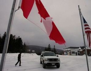 Border Patrol Works Along Vermont - Canada Border