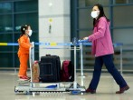 Travelers Take Precautions At South Korea Airport