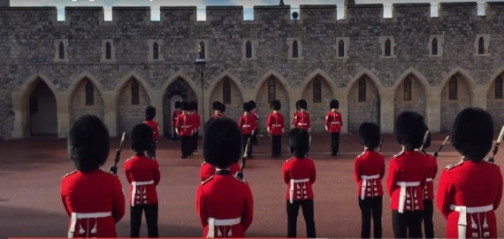 Guard Changing Ceremony at Windsor Castle in London