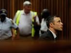Oscar Pistorius in the Pretoria High Court for sentencing in his murder trial on October 13, 2014, in Pretoria, South Africa.
