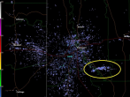 Debris field spotted on radar at time of the Louisiana loud boom