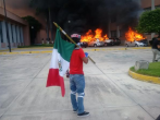 Masked protesters burn Guerrero state congress in southern Mexico in opposition to mass killing of 43 students