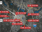 Nine earthquakes which ranged from magnitudes 1.6 to 3.6 rattled North Texas in less than 24 hours