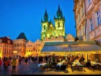 Adorable Night View Of Church Of Our Lady Before Tyn