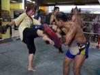 Foreign Tourists Take Up Thai Kickboxing