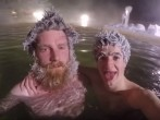 Canadian Hot Springs Resort Holds Awesome Hair Freezing Contest