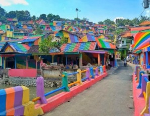 Indonesian village becomes Instagram hit after paint job