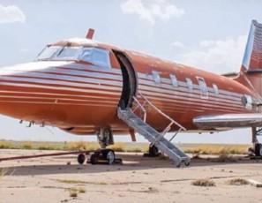Glimpse inside Elvis Presley's last private jet