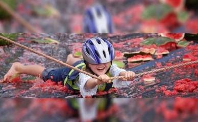 Watermelon Skiing