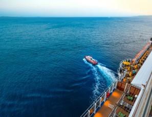While sending furniture sliding Norway cruise ship tilts