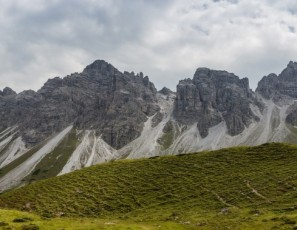 Panorama Kalkkögel Tyrol Sediments