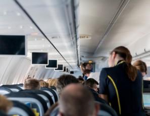 Aircraft Stewardess Mockup Sit Screens Vacations