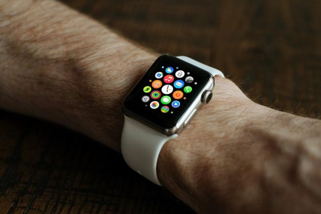 Wrist with smartwatch